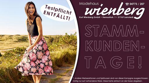 20% Rabatt bei den Stammkunden-Tagen vom Modehaus Wienberg!