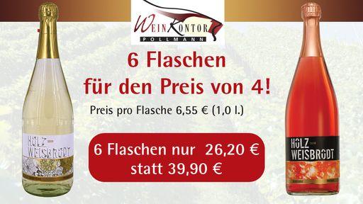 6 Flaschen für den Preis von 4 - nur 26,20 EUR statt 39,90 EUR!